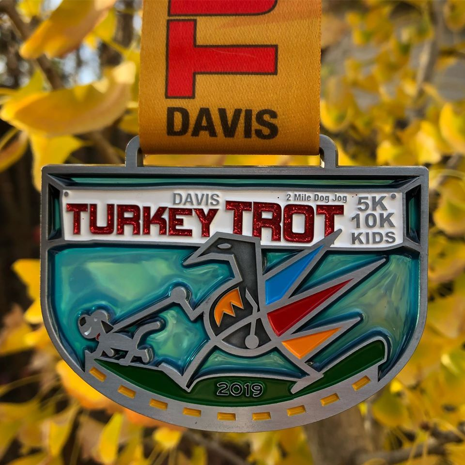 Davis Turkey Trot finisher medal