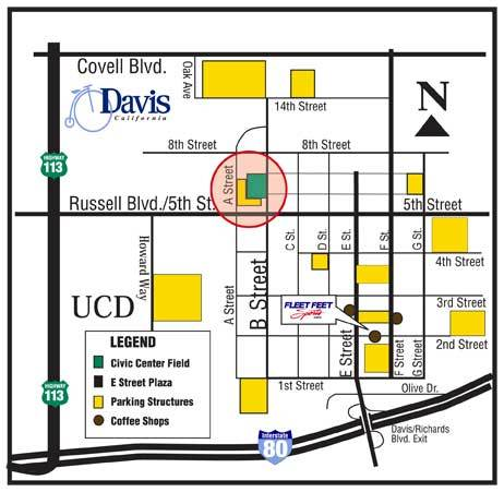 Davis Turkey Trot Map