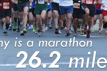 Why is a marathon 26.2 miles?