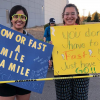 A starry sky provides a perfect backdrop for the Davis Moo-nlight Run