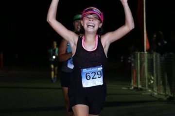 Friday Inspiration: a 13 year old finishes the Davis Moonlight Run with her mom